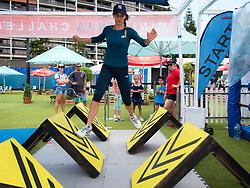 January 2, 2019 - Brisbane, AUSTRALIA - Lesia Tsurenko of the Ukraine completes an obstacle course at the 2019 Brisbane International WTA Premier tennis tournament (Credit Image: © AFP7 via ZUMA Wire)