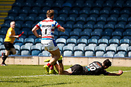 Bradford Bulls centre James Bentley (20) runs in for Bradford Bulls first try during the Kingstone Press Championship match between Rochdale Hornets and Bradford Bulls at Spotland, Rochdale, England on 18 June 2017. Photo by Simon Davies.
