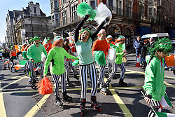 Performers take part in the parade along Piccadilly to celebrate St. Patrick's Day in London, Britain, on March 13, 2016. EXPA Pictures © 2016, PhotoCredit: EXPA/ Photoshot/ Ray Tang<br /> <br /> *****ATTENTION - for AUT, SLO, CRO, SRB, BIH, MAZ, SUI only*****