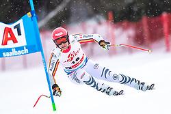 14.02.2020, Zwölferkogel, Saalbach Hinterglemm, AUT, FIS Weltcup Ski Alpin, Super G, Herren, im Bild Josef Ferstl (GER) // Josef Ferstl of Germany in action during his run for the men's SuperG of FIS Ski Alpine World Cup at the Zwölferkogel in Saalbach Hinterglemm, Austria on 2020/02/14. EXPA Pictures © 2020, PhotoCredit: EXPA/ Johann Groder