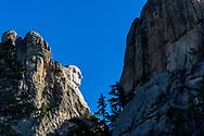 Washington Profile, Mount Rushmore National Memorial, Black Hills, South Dakota. Photo taken October 1, 2017.