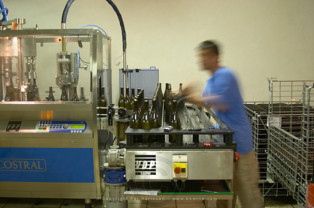 Bottling line. Domaine Pascal Jolivet, Sancerre, Loire, France