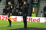 Phillip Cocu during the EFL Sky Bet Championship match between Derby County and Sheffield Wednesday at the Pride Park, Derby, England on 11 December 2019.