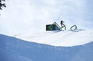 Sebastien Toutant during Snowboard Slopestyle Practice at 2014 X Games Aspen at Buttermilk Mountain in Aspen, CO. ©Brett Wilhelm/ESPN