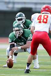 19 September 2015:  Mike Mulcrone during an NCAA division 3 football game between the Simpson College Storm and the Illinois Wesleyan Titans in Tucci Stadium on Wilder Field, Bloomington IL