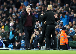 West Ham United manager David Moyes after the final whistle during the Premier League match at the Etihad Stadium, Manchester.
