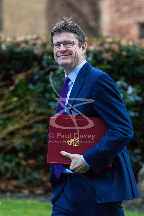 London, December 18 2017. Secretary of State for Business, Energy and Industrial Strategy Greg Clark arrives at 10 Downing Street fora meeting of Prime Minister Theresa May's 'Brexit Cabinet'. © Paul Davey