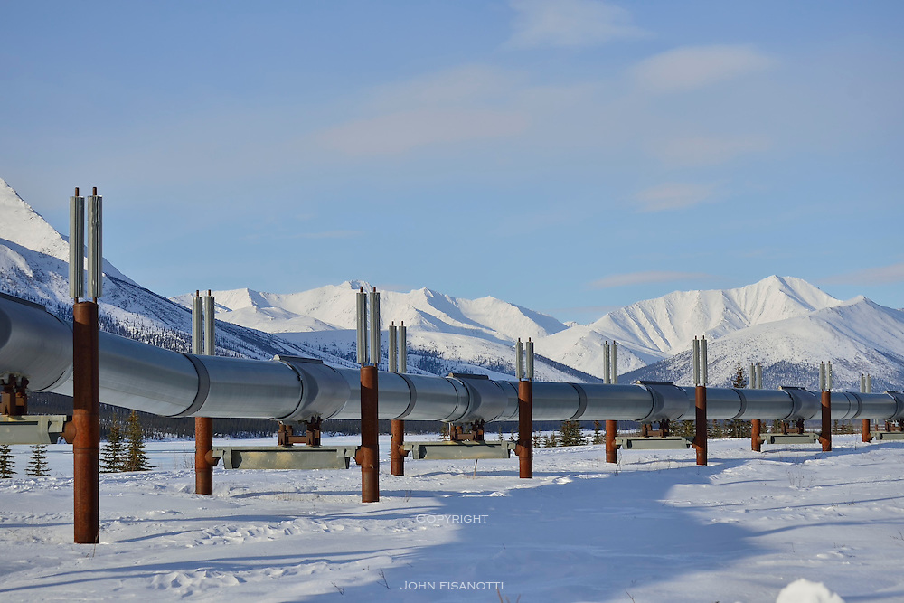 Alaska Pipeline in winter