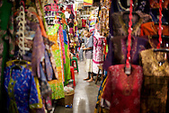 The traditional markets in Indonesia were all packed full of batik and other clothing.