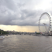 Storm Clouds Over The Thames - London, UK