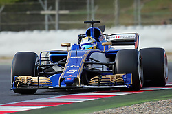 March 1, 2017 - Barcelona, Spain - The Sauber of Marcus Ericsson during day three of Formula One winter testing at Circuit de Catalunya on March 1, 2017 in Montmelo, Spain. (Credit Image: © Jordi Galbany/NurPhoto via ZUMA Press)