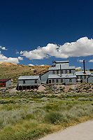 Bodie Ghost Town Gold Mine Panorama. Two of seven portrait images taken with a Nikon D3s camera and 50 mm f/1.4G lens (ISO 800, 50 mm, f/16, 1/200 sec). Raw images processed with DxO and the panorama created using AutoPano Giga Pro.