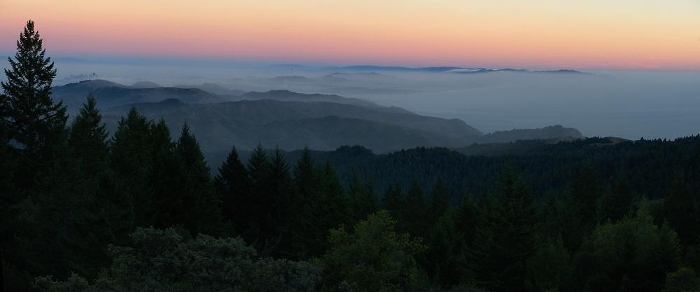 The San Francisco Bay Area from the Summit of Mount Tamalpais. Marin County, CA.