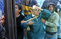 Fotball<br /> Argentina 2003/2004<br /> Foto: Digitalsport<br /> Norway Only<br /> <br /> Boca v Chacarita 31.08.2003<br /> The match was suspended by serious incidents and violence