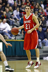29 January 2011: Steve Djurickovic during an NCAA basketball game between the Carthage Reds and the Illinois Wesleyan Titans at Shirk Center in Bloomington Illinois.