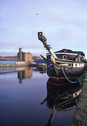 HM Frigate Unicorn, Victoria dock, Dundee, Scotland, is the oldest British naval ship still afloat.