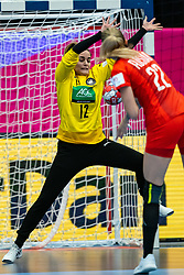 Dinah Eckerle of Germany during the Women's EHF Euro 2020 match between /Germany and Poland at Sydbank Arena on december 07, 2020 in Kolding, Denmark (Photo by RHF Agency/Ronald Hoogendoorn)
