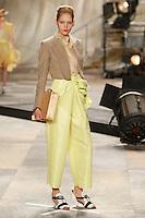 Heidi Mount wearing Isaac Mizrahi Spring 2010 collection during Mercedes-Benz Fashion Week in New York, September 17, 2009