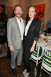 MAT COLLISHAW and POLLY MORGAN at the Creme de la Mer Blue Marine Foundation Dinner held at The Arts Club, 40 Dover Street, London on 23rd June 2015.