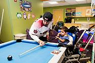 PHOENIX, AZ - APRIL 19: Deven Marrero and Jake Lamb visit patients at Phoenix Children's Hospital. (Photo by Sarah Sachs/Arizona Diamondbacks)