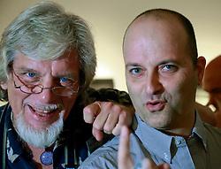 05 October 2013. New Orleans, Louisiana.<br /> Dan Tague and Bob Compton at Jonathan Ferrara Gallery.<br /> Photo; Charlie Varley