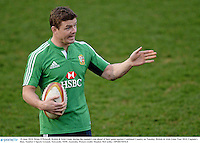 10 June 2013; Brian O'Driscoll, British & Irish Lions, during the captain's run ahead of their game against Combined Country on Tuesday. British & Irish Lions Tour 2013, Captain's Run, Number 2 Sports Ground, Newcastle, NSW, Australia. Picture credit: Stephen McCarthy / SPORTSFILE