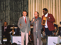 Joe Williams receives Best Male Vocalist Award While appearing on the 1974 Jazz Cruise aboard the SS.Rotterdam,with the Count Basie Orchestra.