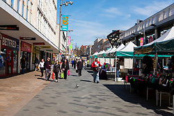 Sheffield Markets at the bottom of the moor probably the busiest in the city on Monday 22 March 2020<br /> <br /> www.pauldaviddrabble.co.uk<br /> All Images Copyright Paul David Drabble - <br /> All rights Reserved - <br /> Moral Rights Asserted -