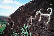 Luahiwa petroglyph Lanai Hawaii