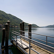 Pontile a Omegna sul lago d'Orta..Landing stage in Omegna on Orta lake