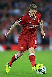 23rd August 2017 - UEFA Champions League - Play-Off (2nd Leg) - Liverpool v 1899 Hoffenheim - Alberto Moreno of Liverpool - Photo: Simon Stacpoole / Offside.