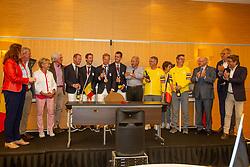 Arrival of the bronze team<br /> Zaventem 2021<br /> © Hippo Foto - Sharon Vandeput<br />  9/08/21