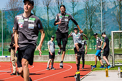 Anze Semenic of national ski jumping team during training of Slovenian Ski Jumping team, on April 25th, 2019 in Sports Park Kranj, Kranj, Slovenia. Photo by Grega Valancic / Sportida