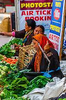 Sidewalk vegetable Market, Main Bazaar Road, Old Leh, Ladakh, Jammu and Kashmir State, India.