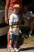 The Tour de France on its most famous climb, Alp D'Huez. 2003.