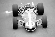 Dan Gurney in his Formula One Eagle-Weslake at the 1967 United States Grand Prix, Watkins Glen, NY; photo by Pete Lyons / www.petelyons.com