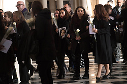 People at the Grenfell Tower National Memorial Service at St Paul's Cathedral in London, to mark the six month anniversary of the Grenfell Tower fire.