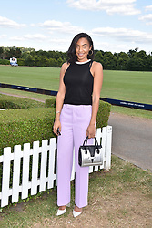 Amal Fashanu at the Laureus polo Cup at Ham Polo Club, Ham, London, England. 21 June 2018.