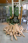 Shaped staves. Cooperage, barrel manufacturing, Cadus, Louis Jadot, Ladoix, Beaune, Burgundy, France