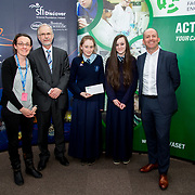 27.04.2016.          <br />  Kalin Foy and Ciara Coyle win SciFest@LIT<br /> Kalin Foy and Ciara Coyle from Colaiste Chiarain Croom to represent Limerick at Ireland's largest science competition.<br /> <br /> Ardscoil Mhuire, Corbally students, Erin Barrett and Tara Hamilton's project, Social Sciences Award.  Erin Barrett and Tara Hamilton are pictured with George Porter, SciFest and Brian Aherne, Intel<br /> <br /> Of the over 110 projects exhibited at SciFest@LIT 2016, the top prize on the day went to Kalin Foy and Ciara Coyle from Colaiste Chiarain Croom for their project, 'To design and manufacture wireless trailer lights'. The runner-up prize went to a team from John the Baptist Community School, Hospital with their project on 'Educating the Youth of Ireland about Farm Safety'.  Picture: Alan Place