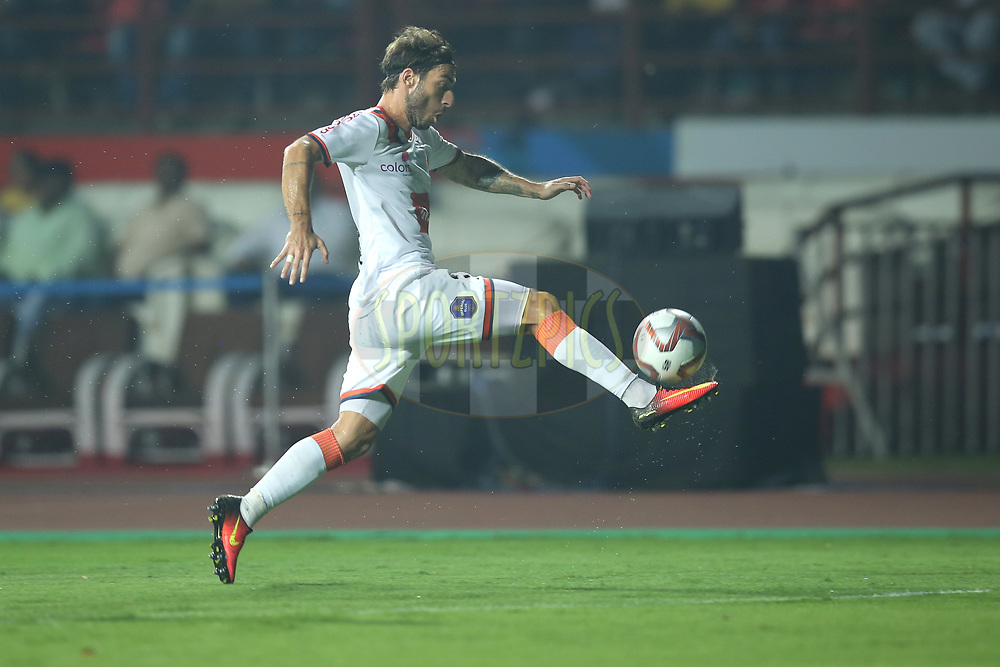 Miguel Fernandez of FC Goa in action during match 25 of the Hero Indian Super League 2018 ( ISL ) between Jamshedpur FC and FC Goa held at JRD Tata Sports Complex, Jamshedpur, India on the 1st November  2018<br /> <br /> Photo by: Deepak Malik /SPORTZPICS for ISL