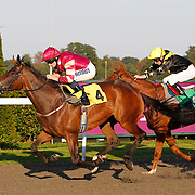 Sudden Wish and Ryan Moore winning the 6.00 race