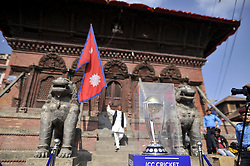 October 29, 2018 - Kathmandu, NP, Nepal - The 2019 ICC Cricket World Cup trophy pictured at the premises of Basantapur Durbar Square during a country tour in Kathmandu, Nepal on Monday, October 29, 2018. The 2019 Cricket World Cup is to be hosted by England and Wales from 30 May to 14 July 2019. (Credit Image: © Narayan Maharjan/NurPhoto via ZUMA Press)