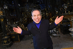 EDITORIAL USE ONLY Warwick Davis in the Lestrange Vault set at the original Gringotts Wizarding Bank at Warner Bros Studio Tour London, which opens to the public on Saturday 6th April.