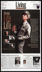 Fife to Life. Barney Fife impersonator for The Charlotte Observer<br /> Photo by Laura Mueller/Charlotte Observer