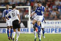 Fotball<br /> Frankrike 2004/05<br /> Strasbourg v Istres<br /> 28. august 2004<br /> Foto: Digitalsport<br /> NORWAY ONLY<br /> GUILLAUME LACOUR (STR) / RAFIK SAIFI (IST)
