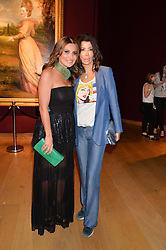 Left to right, ELLA KRASNER and COUNTESS MONTEVERDE at the Tatler & Christie's Art Ball held at Christie's, 7-15 Ryder Street, London on 12th June 2014.