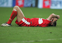 PORTUGAL - LISBOA 17 MARCH 2005: BOUDEWIN ZENDEN #32 sad whit Sporting goal in the UEFA Cup knockout phase, match Sporting CP (1) vs Middlesbrough FC (0), held in Alvalade 21 stadium.  17/03/2005  21:32:18<br />(PHOTO BY: NUNO ALEGRIA/AFCD)<br /><br />PORTUGAL OUT, PARTNER COUNTRY ONLY, ARCHIVE OUT, EDITORIAL USE ONLY, CREDIT LINE IS MANDATORY AFCD-PHOTO AGENCY 2004 © ALL RIGHTS RESERVED