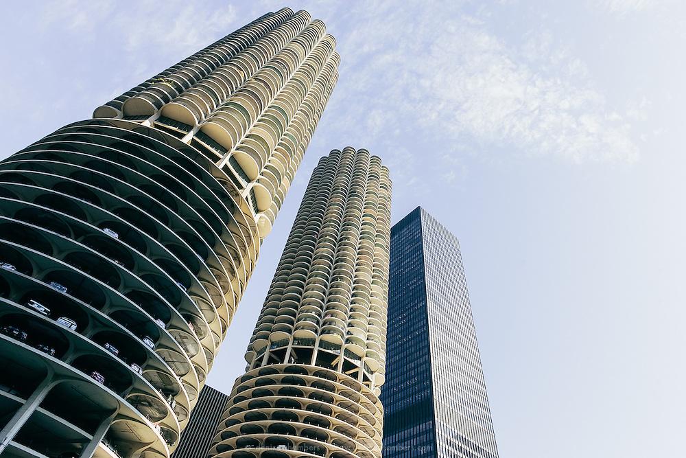 Marina City complex in Chicago, Illinois.