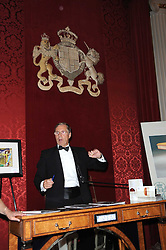 The auctioneer at the 13th annual Russian Summer Ball held at the Banqueting House, Whitehall, London on 14th June 2008.<br /><br />NON EXCLUSIVE - WORLD RIGHTS